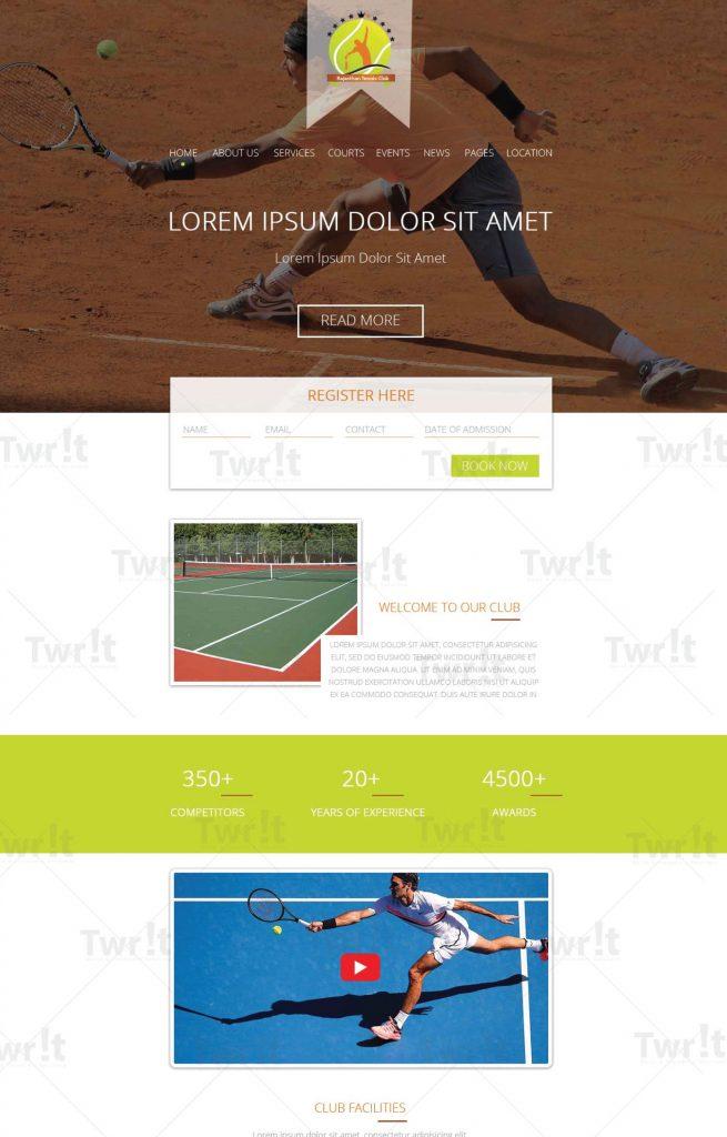 Tennis Club Layout